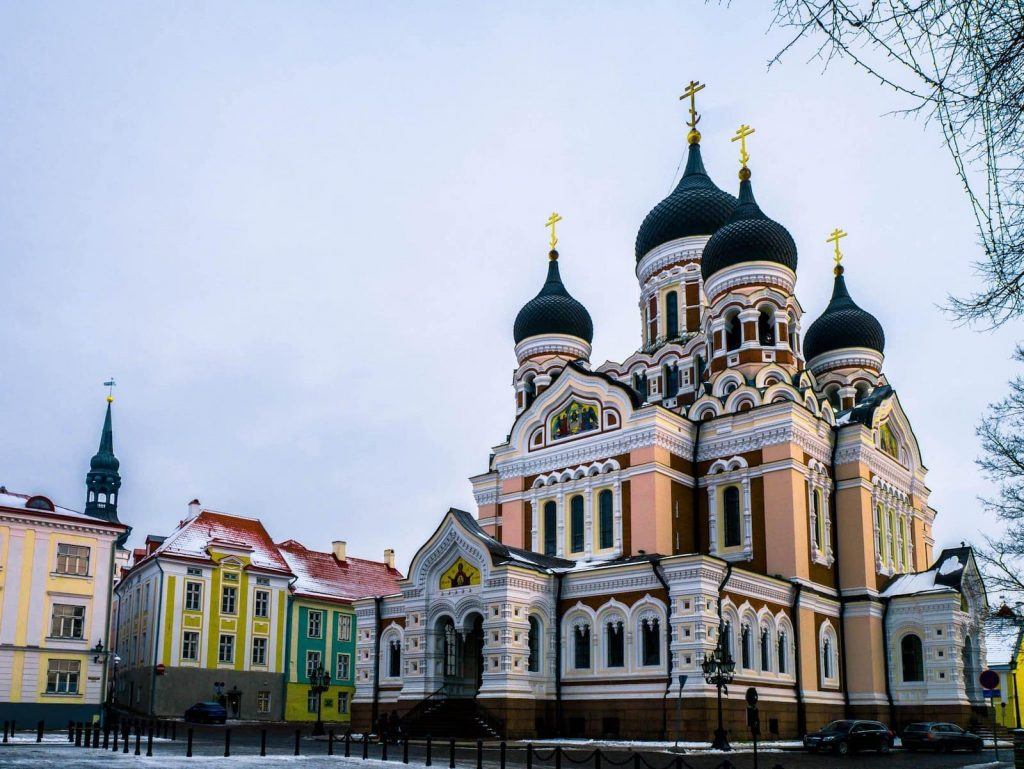 Russian Cathedrals are just one of the beautiful things about Old Tallinn, which you experience living in Estonia.