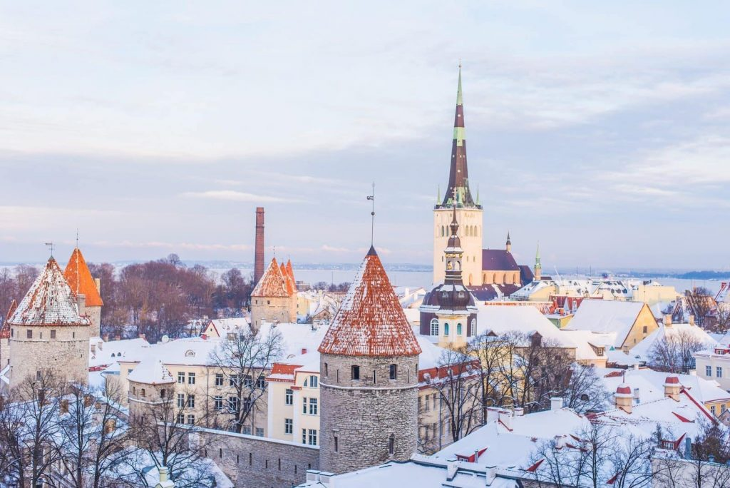 Life in Estonia is beautiful. This is Tallinn, covered by snow in the winter.