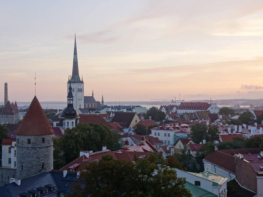 A view over Tallinn at Dawn. Living in Estonia can be amazing