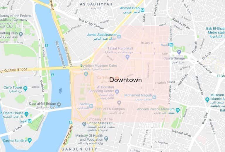 Best Neighbourhoods in Cairo - Downtown Map