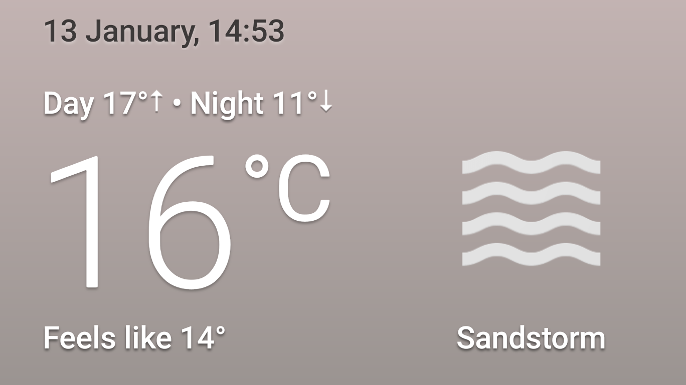 Weather forecast - Cairo - Sandstorm