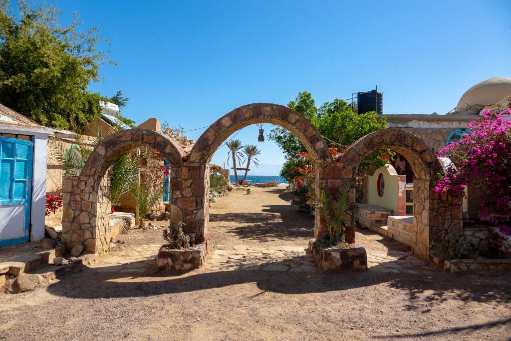 The entrance to Habiba Community in Nuweiba, Sinai, Egypt