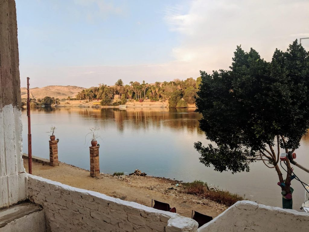 The view from Aswan, on Elephantine Island, in Upper Egypt