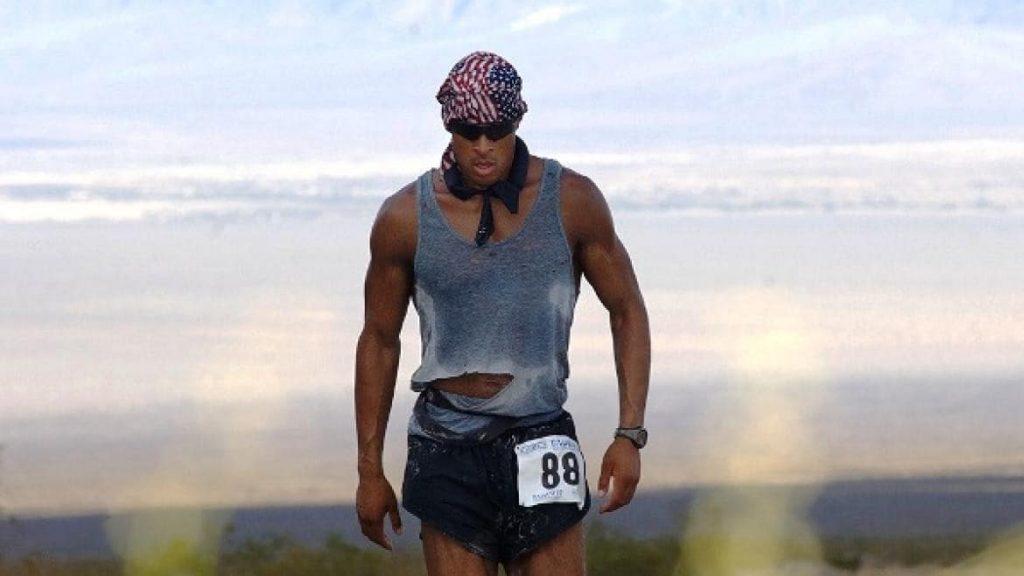 """David Goggins, a famous ultra marathoner, who wrote """"can't hurt me""""."""