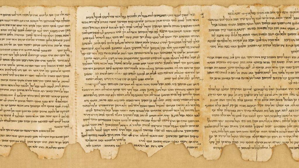 The dead see scrolls, an important part of the history of Hebrew.