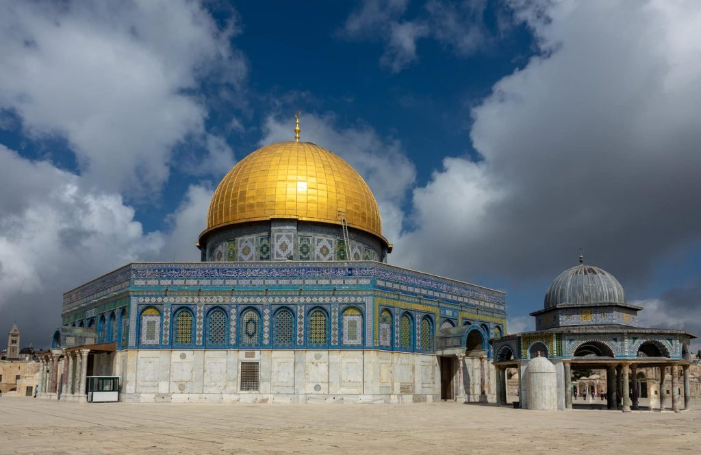The Al Aqsa mosque in Jerusalem is built on the holiest site for Jews, the Temple Mount.