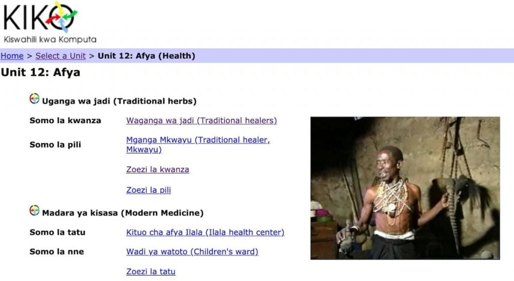 Kiko Kiswahili - a free swahili educaitnaal resource from the University of Georgia.