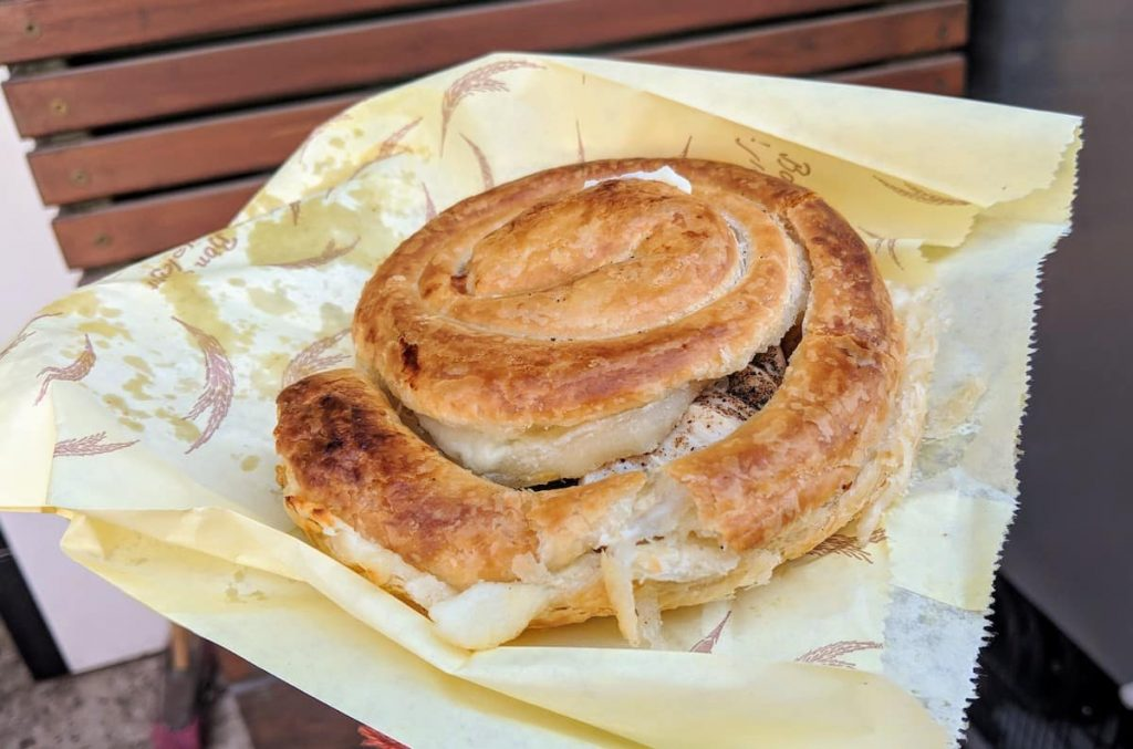 What to eat in Tel Aviv: Burekas. You should also eat hummus, falafel and a few other things, but this is the best burekas you'll ever find!