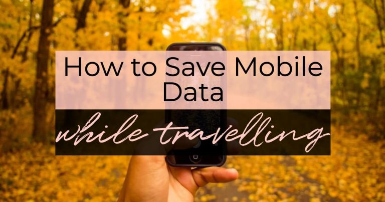 How to Use Less Mobile Cellular Data while Travelling