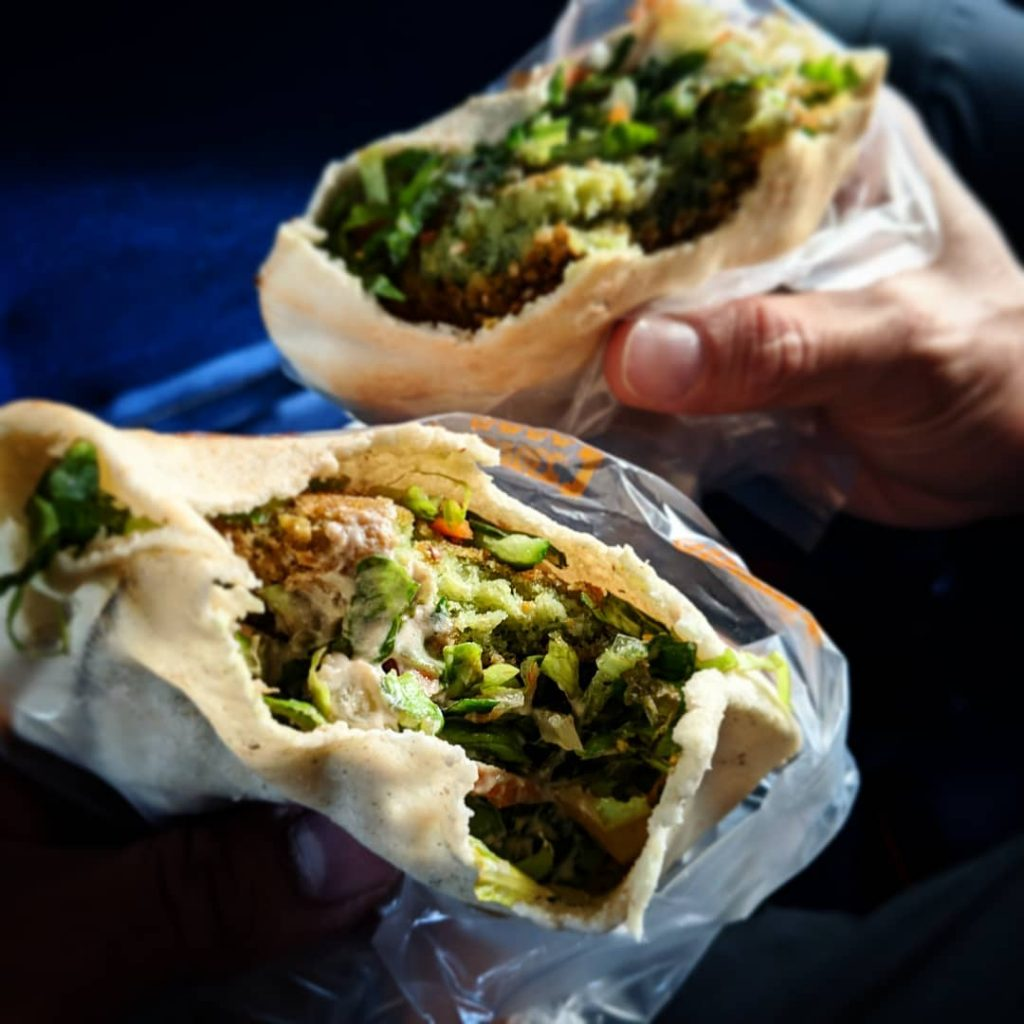 The best food to eat in Cairo, Egypt - Falafel and Beans sandwich (ful wa tameyya)