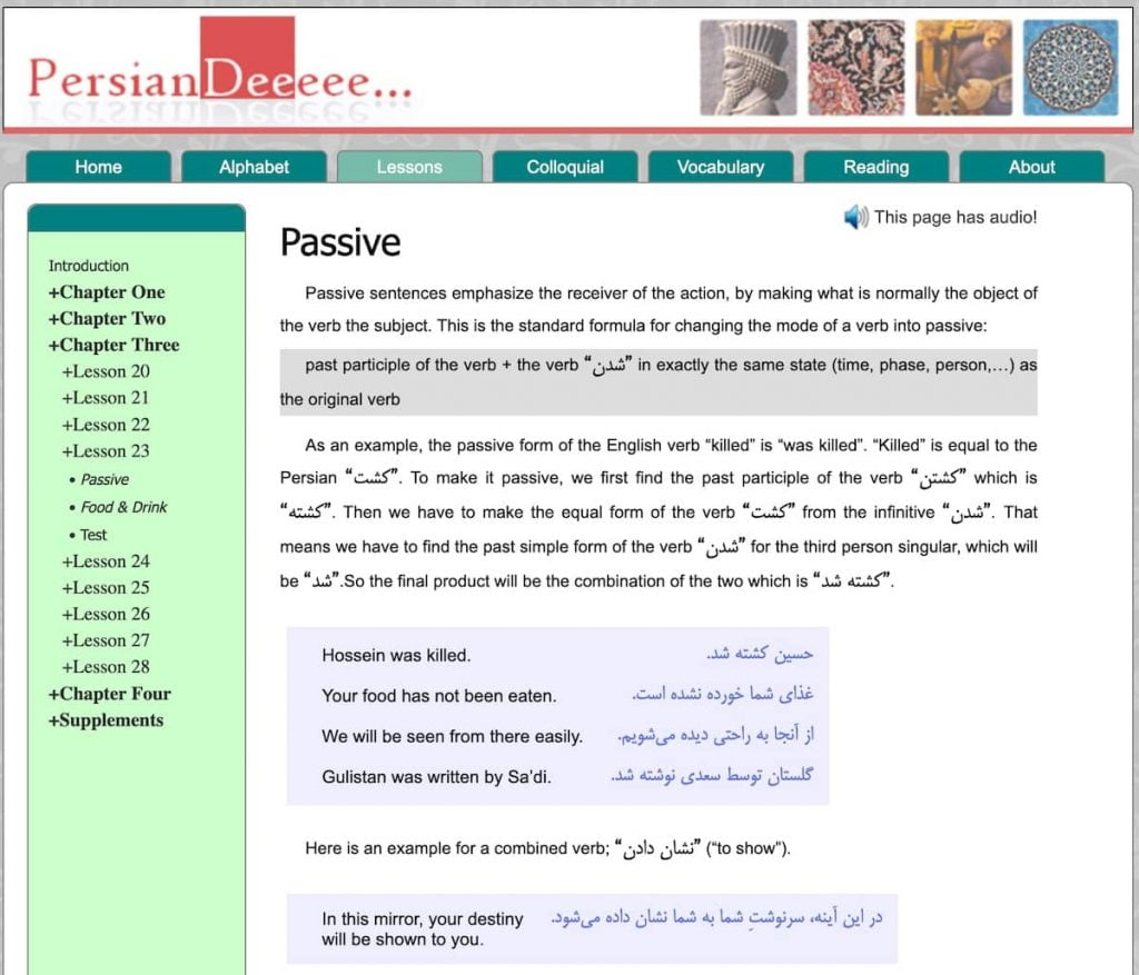 Persian Dee is a great free/donationware website for learning Farsi. It focuses on grammar.