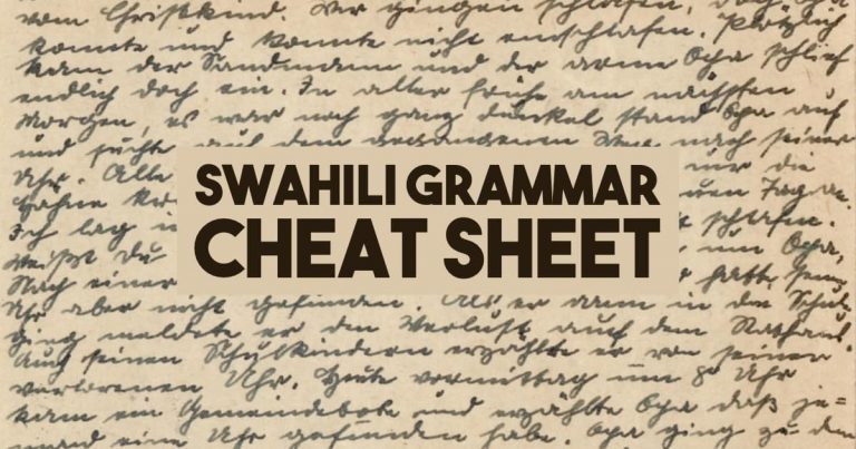 Swahili Noun Classes — Ultimate Cheat Sheet