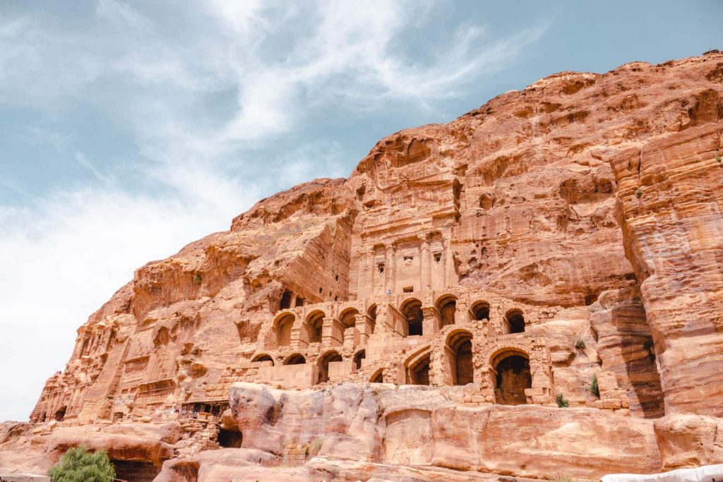 Royal Tombs in Petra - find these when hiking the best trails in Petra