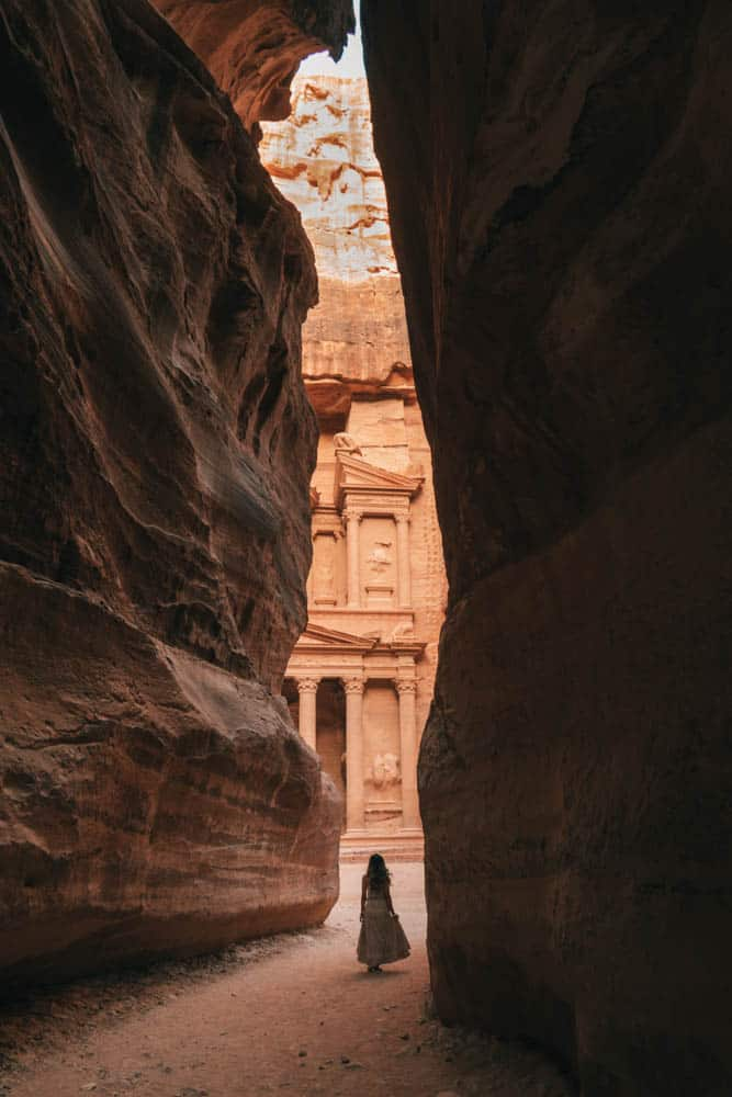 Visiting Petra is all about visiting The Treasury