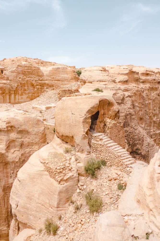 entrance to fortress ruins near Petra
