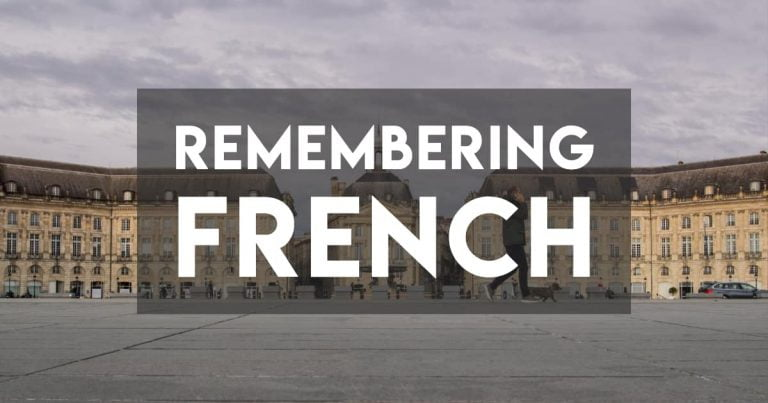 Remembering French in a New France