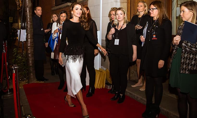 Queen Rania of Jordan at her birthday party