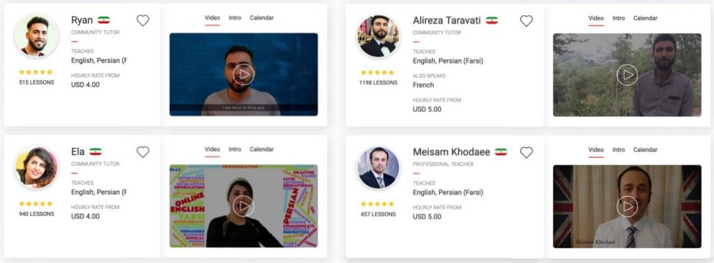 iTalki persian farsi teachers for as little as $4 an hour to learn farsi