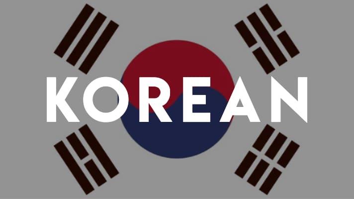 Korean language learning resources