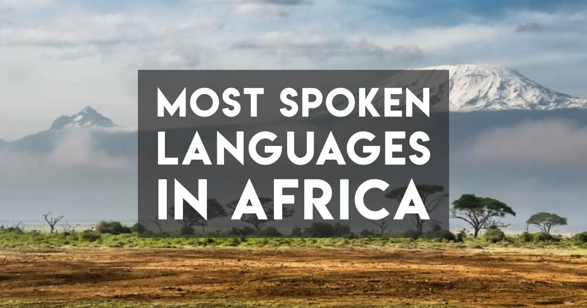 Most spoken languages in africa — background image