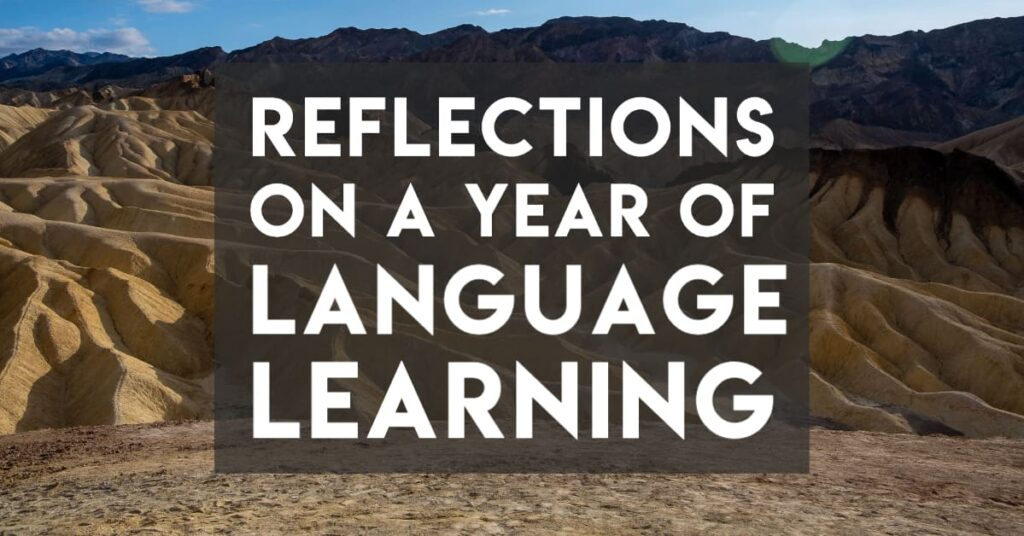 Reflections on a year of language learning - cover image