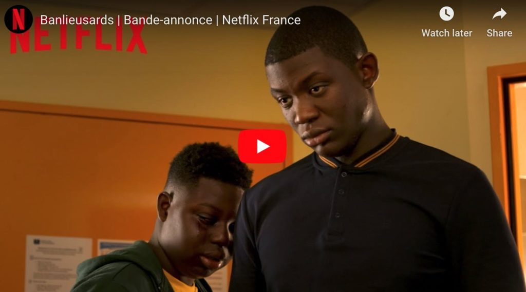 Screen grab from the trailer for Banlieusards (Street Flow), two black guys in a room