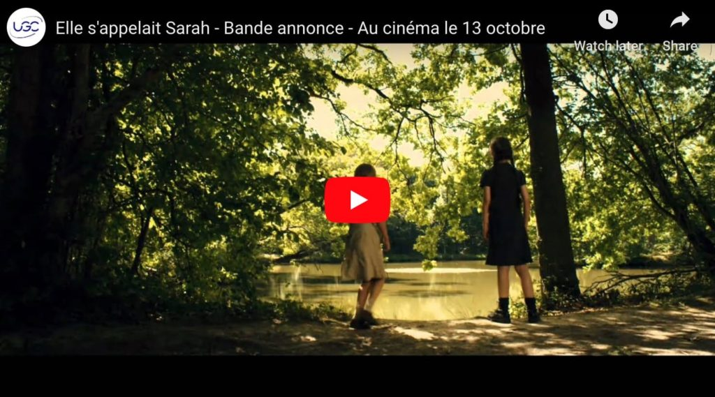 Screen grab from the trailer for Elle s'appelait Sarah (Sarah's Key), a French film about the Holocaust