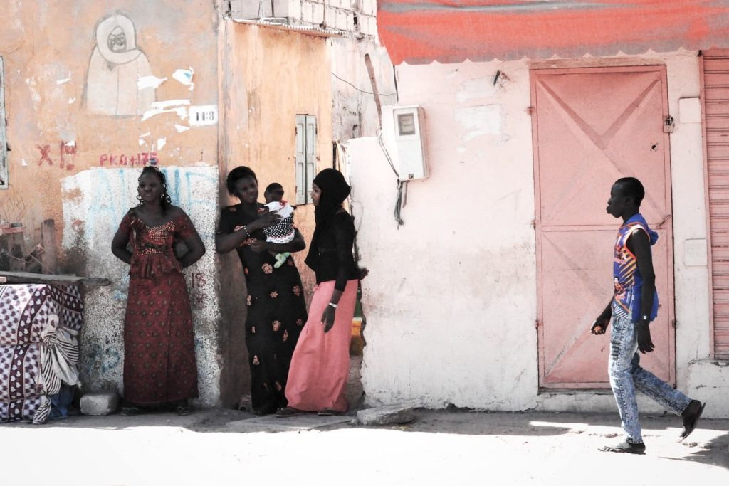 Street scene from dakar, senegal, where french is spoken