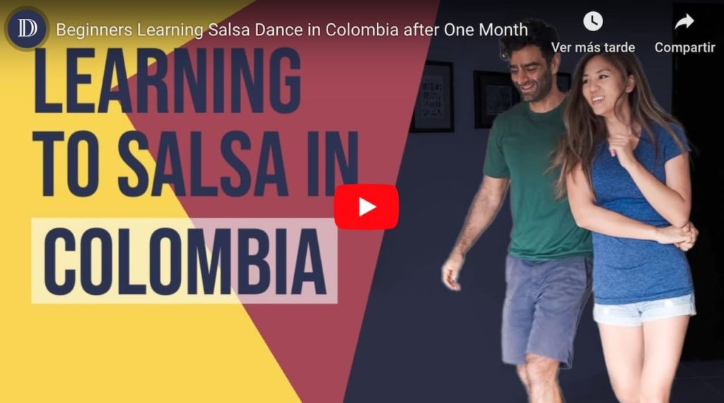 Initial video of learning to dance salsa in Cali, Colombia