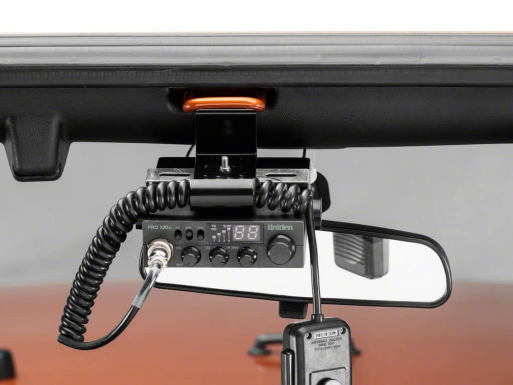 CB radio installed in a 4x4 truck channels to use