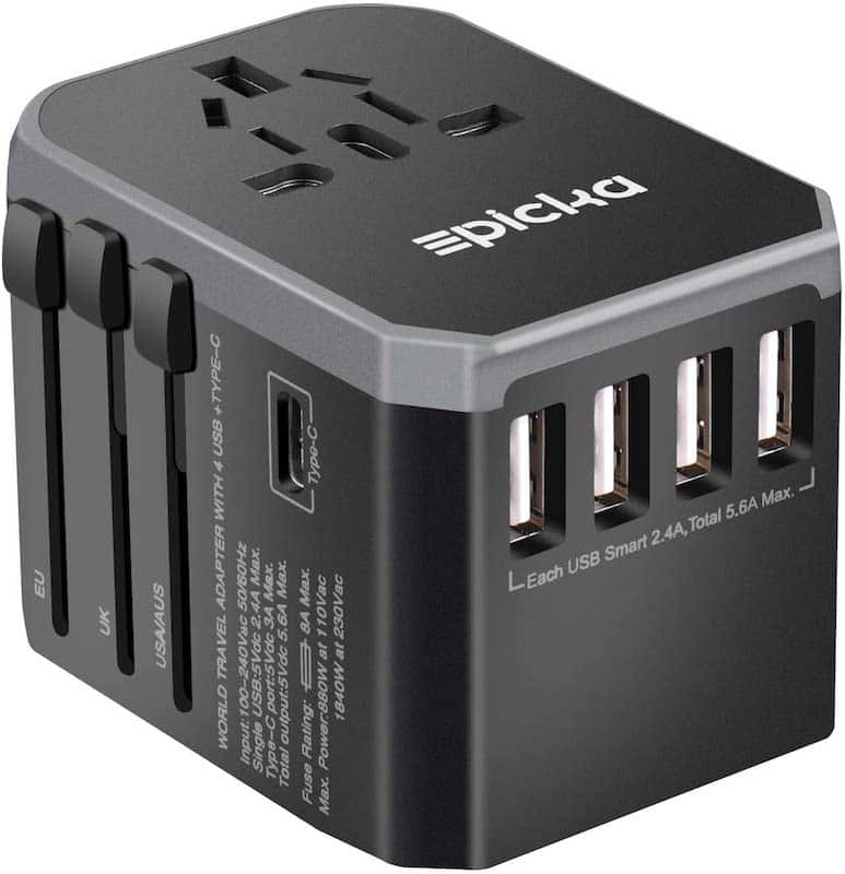 Travel adapter gift for men
