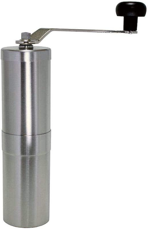Portable coffee grinder that fits in AeroPress body