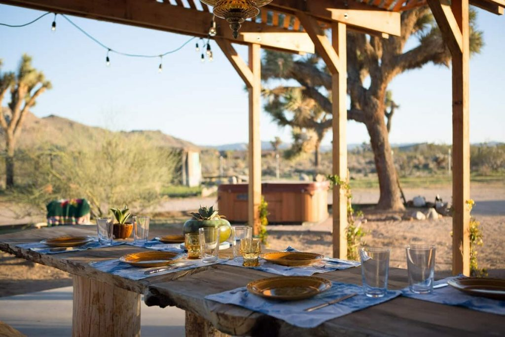 airstream joshua tree airbnb dining