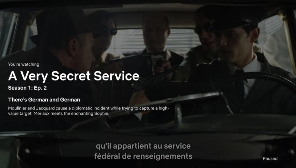 French tv shows on netflix, a very secret service