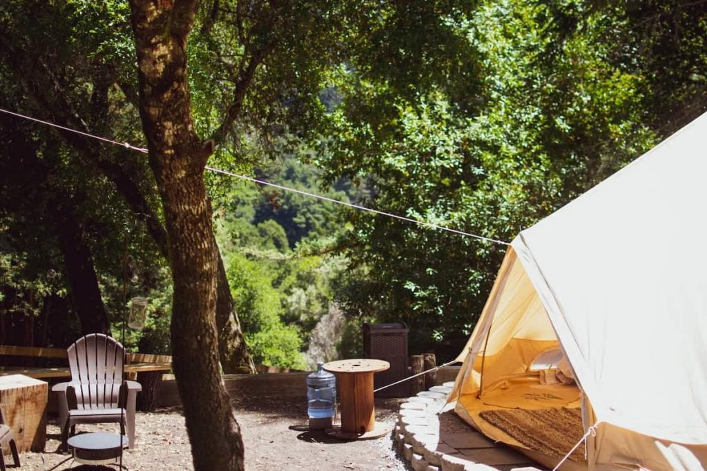 Forest Glamping in California Airbnb