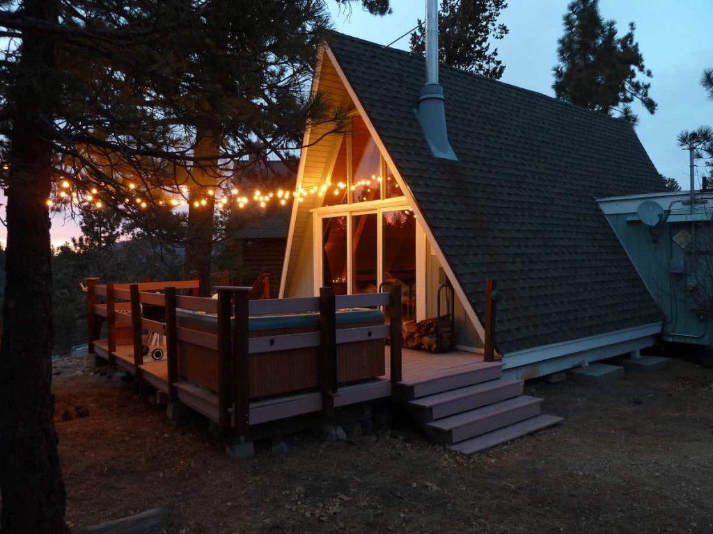 Rustic A-Frame Big Bear Airbnb Cabin