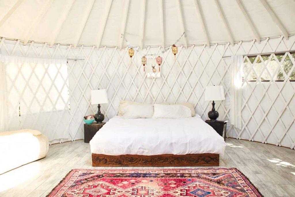 california glamping Skyfarm yurt