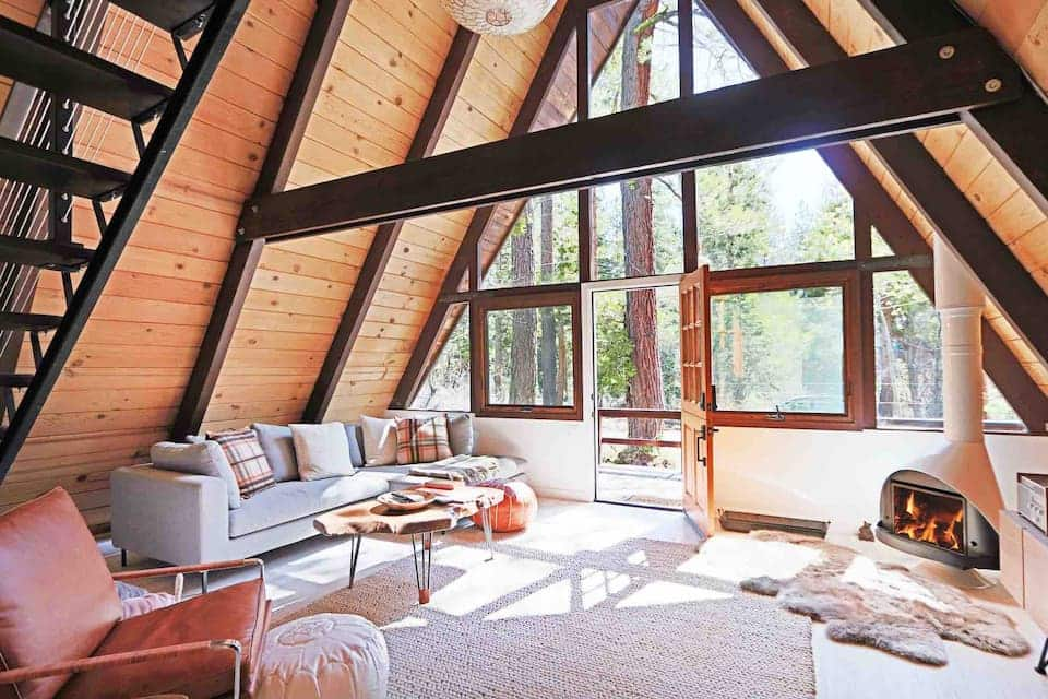 Mid-Century Modern Cabin Airbnb in Lake Tahoe